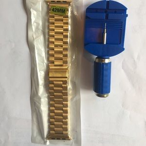 Gold tone Apple Watch Link band & kit